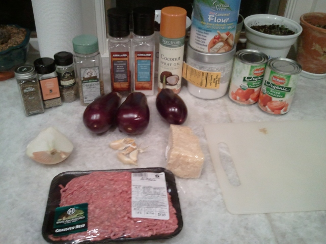 Ingredients - Eggplant Parmesan
