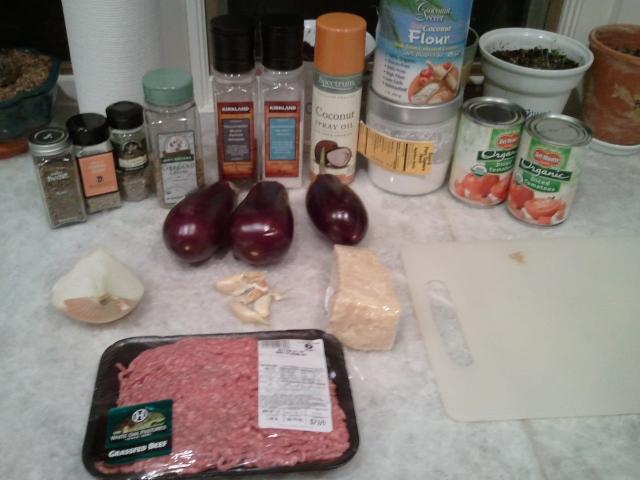 Ingredients - Eggplant Parmesan