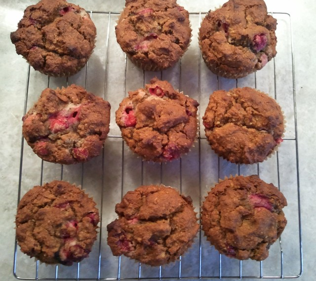 cranberry muffins - before glazing