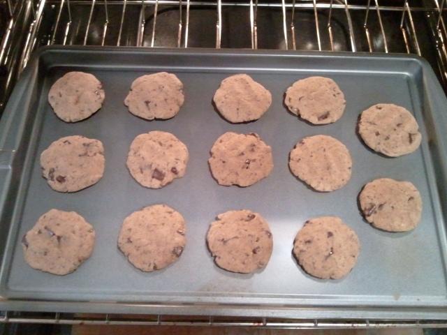 chocolate chunk cookies - prebake