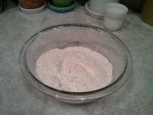 dry ingredients - press cookies