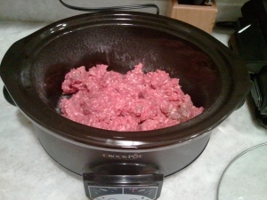 Beef in slow cooker