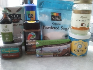 "Ingredients for icing - ""Cup of Joe"" Chocolate Cake"