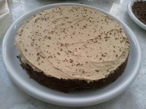 """Iced layer - """"Cup of Joe"""" Chocolate Cake"""