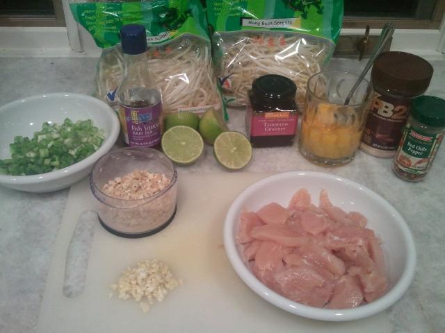 No Nonsense Chicken Pad Thai ingredients