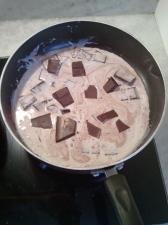 Melting chocolate mousse