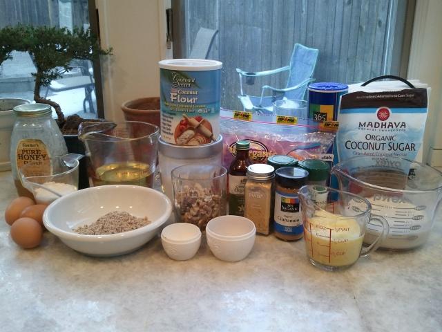 Ingredients - carrot cake