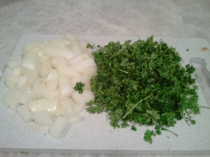 Onion and parsley - chopped