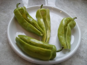Deseeded peppers