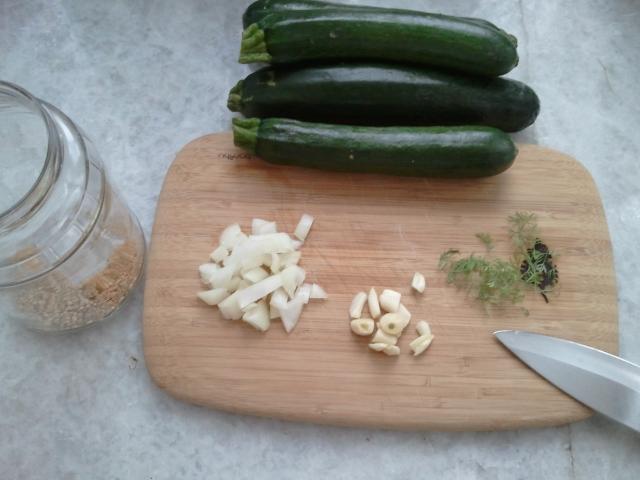 Zucchini for pickling