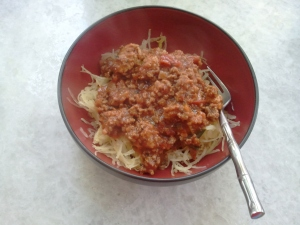 Spaghetti Squash with Meat Sauce - The Twofer