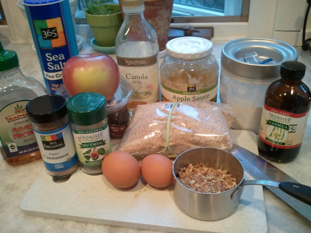 Ingredients - Apple Date Pecan Muffins