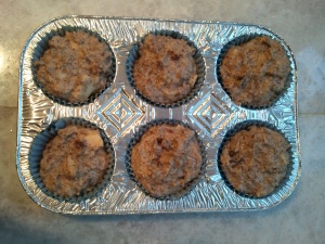 Ready to go in the oven - Apple Date Pecan Muffins