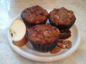 Apple Date Pecan Muffins