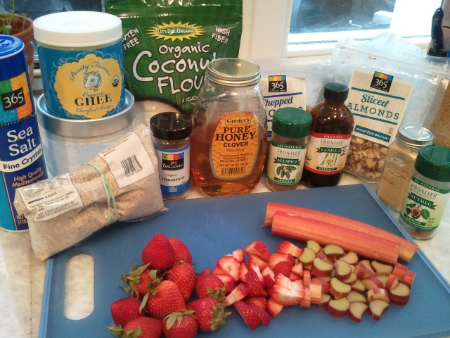 Ingredients - Strawberry Rhubard Crisp