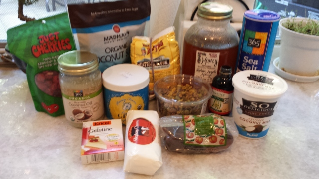 No Bake Cheesecake - ingredients