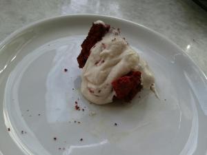 red velvet cake eaten
