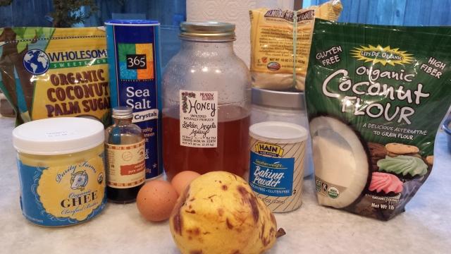 Ingredients - Pear Upside Down Cake