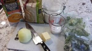 Ingredients - No Cream of Broccoli Soup