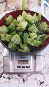 Chopping broccoli - No Cream of Broccoli Soup