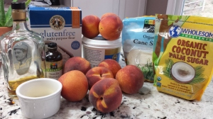 Ingredients - Caramel Bourbon Peach Pie