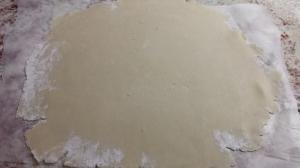 Rolled out Dough - Caramel Bourbon Peach Pie