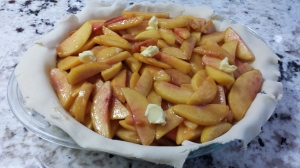 Almost there - Caramel Bourbon Peach Pie