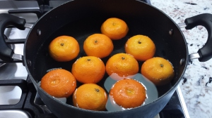Boiling clementines - Clementine Cake