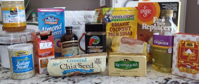 Ingredients - Dirty Chai Cupcakes