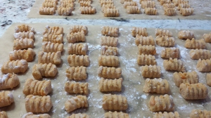 Sea of sweet potato gnocchi