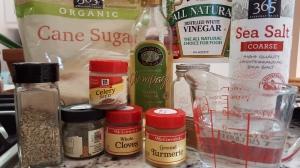 Sweet Gherkin ingredients
