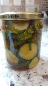 "Jar of ""bread and butter"" pickles"